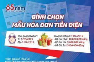 EVN tổ chức cuộc thi bình chọn mẫu hóa đơn tiền điện mới