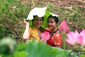 Thơ mộng hồ sen hơn 3.000 m2 ở bản vùng cao Nghệ An