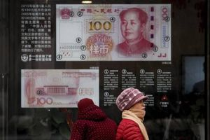 Giá nhân dân tệ có nguy cơ xuống mức từng xảy ra vào thời khủng hoảng tài chính