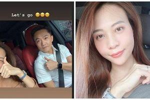 Hôn phu Cường Đô La - người mẫu Đàm Thu Trang để lộ bằng chứng mang thai khó chối cãi