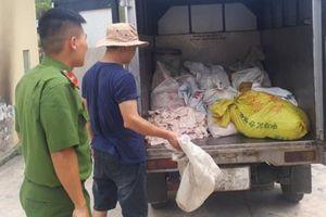 Hải Phòng: Phát hiện và tiêu hủy gần 500kg bì lợn không rõ nguồn gốc