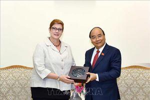 Thủ tướng Nguyễn Xuân Phúc tiếp Bộ trưởng Ngoại giao Australia