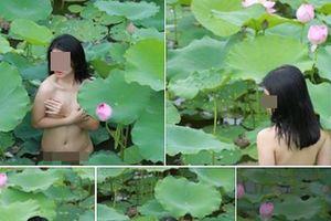 Diễn viên chụp ảnh nude bên hồ sen nhờ công an can thiệp