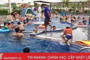 Nắng nóng kỷ lục, các bể bơi ở TP Hà Tĩnh quá tải