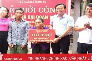 Ủy ban MTTQ tỉnh Hà Tĩnh khởi công nhà đại đoàn kết cho hộ nghèo