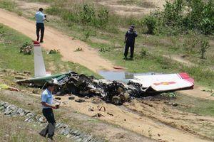 Toàn cảnh hiện trường vụ rơi máy bay quân sự ở Khánh Hòa