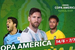 Trận khai mạc Copa America 2019 sẽ diễn ra ở đâu, khi nào?