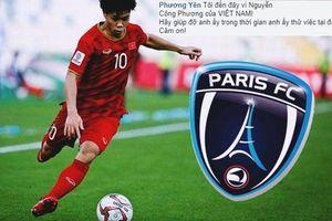 CĐV Việt Nam 'tấn công' CLB Paris FC để quảng bá Công Phượng