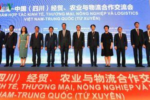 Đẩy mạnh hợp tác kinh tế-thương mại, nông nghiệp, logistics Việt-Trung