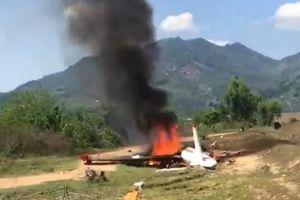 Rơi máy bay quân sự ở Khánh Hòa: Lực lượng chức năng đang phong tỏa hiện trường