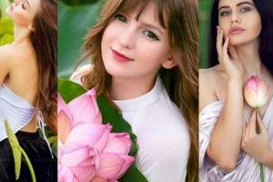 Những cô gái ngoại quốc 'đốn tim' người nhìn vì đẹp như nữ thần bên sen