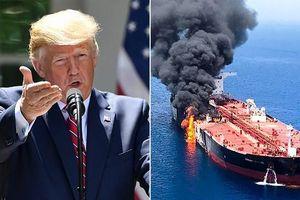 TT Trump chỉ đích danh nghi phạm tấn công 2 tàu dầu trên vịnh Oman