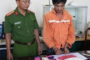 Bắt giữ đối tượng vận chuyển 10.000 viên hồng phiến và 1kg ma túy đá