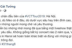 #VCTTour2019 - Vũ Cát Tường xác nhận Hà Nội sẽ là điểm đến đầu tiên!