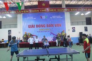Công đoàn Đài Tiếng nói Việt Nam tổ chức giải Bóng bàn VOV năm 2019