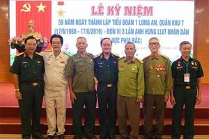 Gặp mặt CCB nhân kỷ niệm 59 năm Ngày thành lập Tiểu đoàn 1 Long An