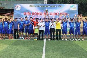 Thành phố Phúc Yên tổ chức thành công giải bóng đá chào mừng ngày Báo chí Cách mạng Việt Nam