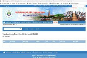 Nam Định công bố điểm thi vào lớp 10 công lập