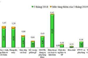 11 nhóm hàng xuất khẩu tỉ USD trong 5 tháng đầu năm 2019
