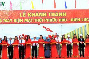 Khánh thành nhà máy điện mặt trời công suất hơn 30MW tại Ninh Thuận