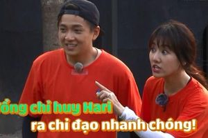 Running Man tập 10: Trấn Thành ngồi yên để vợ xé bảng tên khi được Hari Won hứa tăng lương