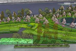 Cắm mốc giới thu hồi đất làm bãi đỗ xe ngầm trong Công viên Thủ Lệ