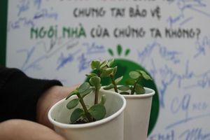 Nô nức rủ nhau mang sách cũ đổi lấy cây xanh