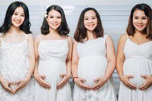 4 chị em ruột 'rủ nhau' mang bầu, cô nào cô nấy xinh lung linh