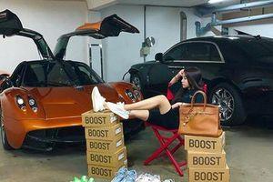 Con gái Minh Nhựa đọ dáng siêu xe Pagani Huayra 80 tỷ