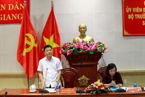 Bộ trưởng Lê Thành Long làm việc với Sở Tư pháp Tiền Giang