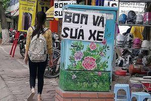Quảng cáo vặt lại 'bôi bẩn 'bốt điện nở hoa' ở Hà Nội