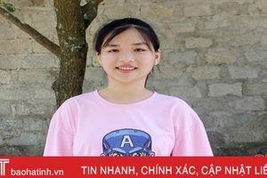 Thả cảm xúc vào 15 trang giấy, nữ sinh ở TP Hà Tĩnh giành điểm chuyên Văn cao nhất