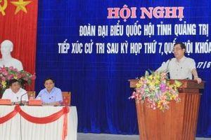 Bộ trưởng Nguyễn Chí Dũng tiếp xúc cử tri tại Quảng Trị sau kỳ họp thứ 7, Quốc hội khóa XIV