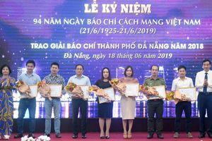 Báo Kinh Tế & Đô Thị đoạt giải nhì giải báo chí Đà Nẵng năm 2018