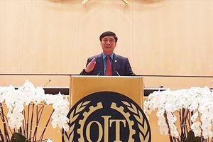 Chủ tịch Tổng LĐLĐVN Bùi Văn Cường dự và phát biểu tại Hội nghị Lao động Quốc tế lần thứ 108
