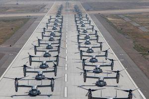 Máy bay MV-22B Osprey Mỹ nối đuôi cất cánh kiểu 'Voi đi bộ'
