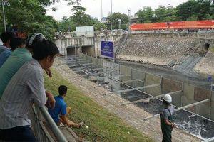 Xem 'màn trình diễn' biến bùn thành CO2 và nước trên sông Tô Lịch