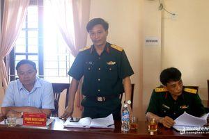 Ban Chỉ huy quân sự Quỳnh Lưu có tân chính trị viên