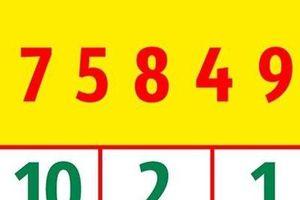 Câu đố 'hoa mắt' bởi các con số khó có người trả lời đúng