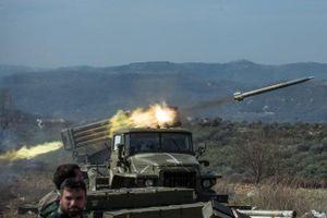 Syria: Pháo phản lực BM-21 'Grad' dội mưa lửa lên khủng bố ở Idlib