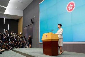 Lãnh đạo Hong Kong 'xin lỗi chân thành' vì dự luật dẫn độ