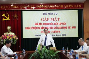 Bộ Nội vụ gặp mặt nhà báo, phóng viên nhân kỷ niệm 94 năm Ngày Báo chí cách mạng Việt Nam