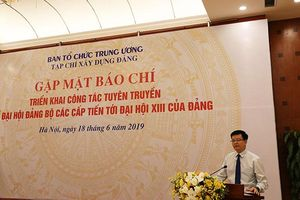 Tạp chí Xây dựng Đảng (Ban Tổ chức Trung ương) tổ chức gặp mặt báo chí triển khai công tác tuyên truyền về đại hội đảng bộ các cấp tiến tới Đại hội XIII của Đảng.