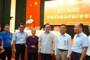 Bí thư Thành ủy Hoàng Trung Hải tiếp xúc cử tri huyện Mê Linh