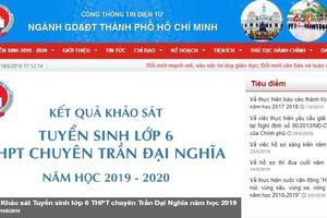 Điểm chuẩn lớp 10 ở TP HCM năm 2019