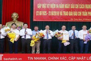 Hà Tĩnh gặp mặt các cơ quan báo chí và trao Giải Báo chí Trần Phú năm 2018