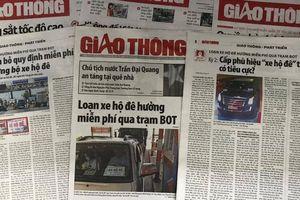 Loạt bài 'loạn xe hộ đê' của Báo Giao thông đoạt giải B báo chí Quốc gia