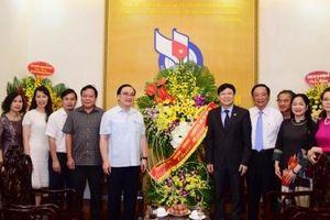 Bí thư Thành ủy Hoàng Trung Hải chúc mừng Hội Nhà báo Việt Nam, Bộ Thông tin và Truyền thông