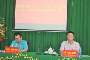Bộ trưởng Bộ Tư pháp Lê Thành Long tiếp xúc cử tri xã Hưng Yên, An Biên