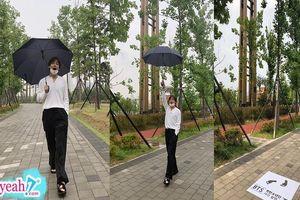 Góc bảo tồn: V (BTS) đi dạo phố ở Busan, ngay lập tức địa phương in dấu chân lưu giữ khoảnh khắc